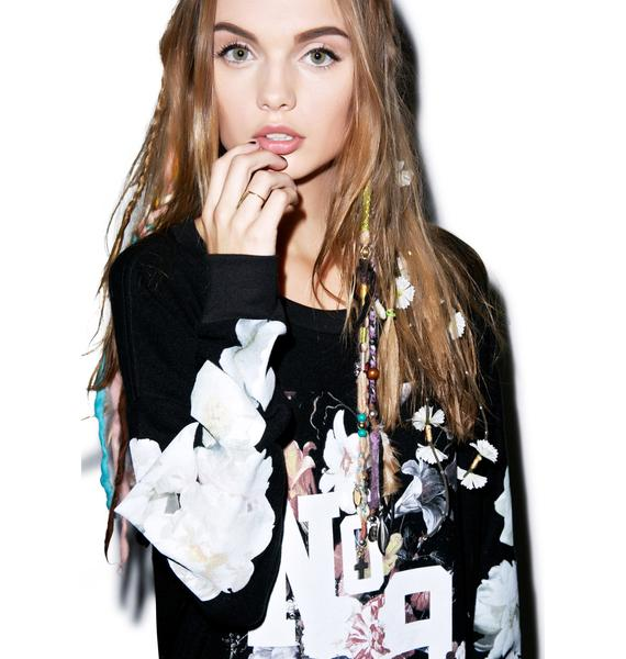 Wildfox Couture England Collage Roadtrip Sweater