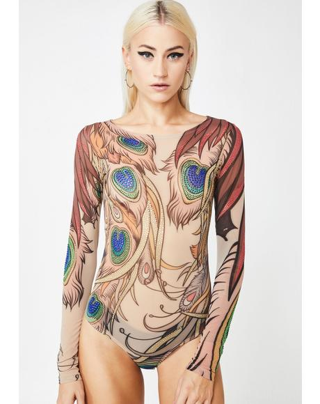 Peacockin' Princess Bodysuit