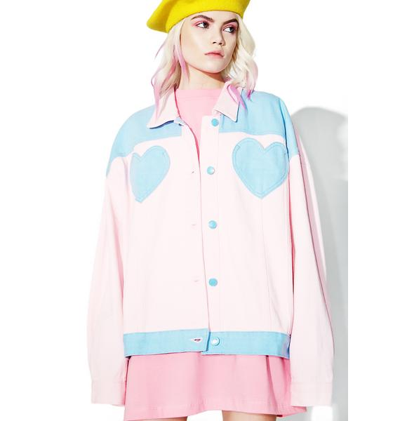 Lazy Oaf Denim Panel Jacket