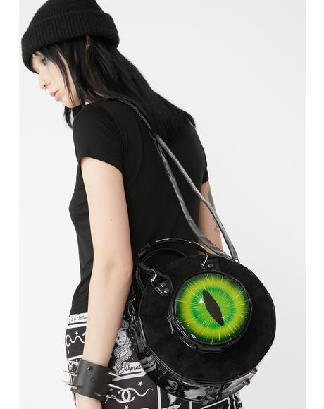 Black Cat Eyeball Bag