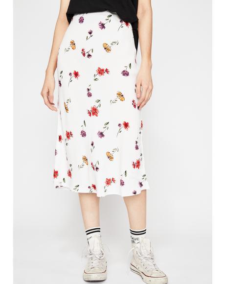 Glam Garden Floral Skirt