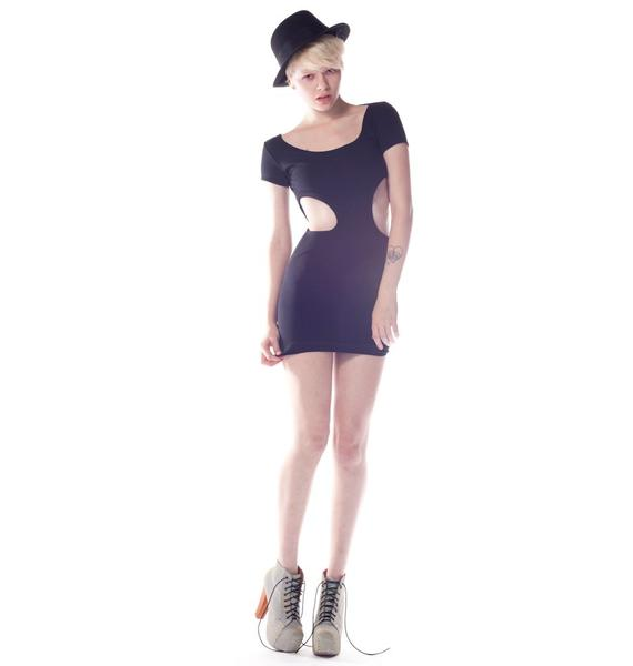 Quontum Circle Cut Out Dress
