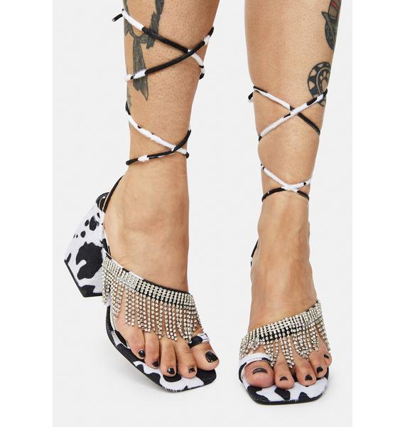 Public Desire Cow Print Peri Heels