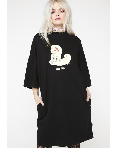Bad Bunny T-Shirt Dress