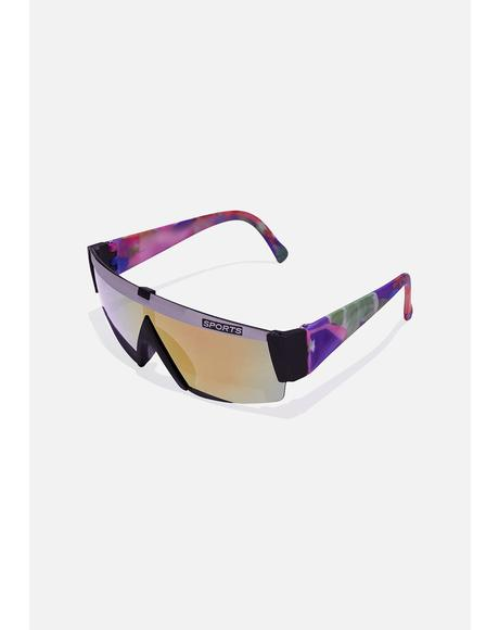 Gray Black Sports Sunglasses