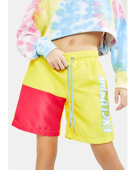 Strawberry Lemon Exclusive Colorblock Shorts