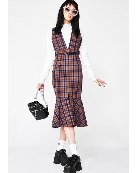 Life Lessons Plaid Dress