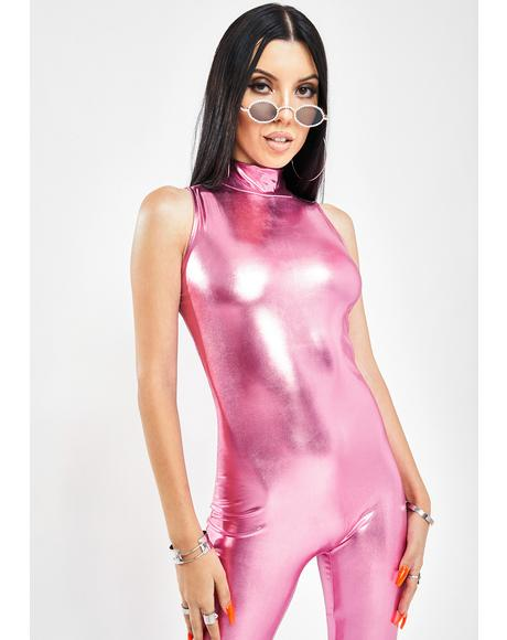 Virtual Seduction Metallic Jumpsuit