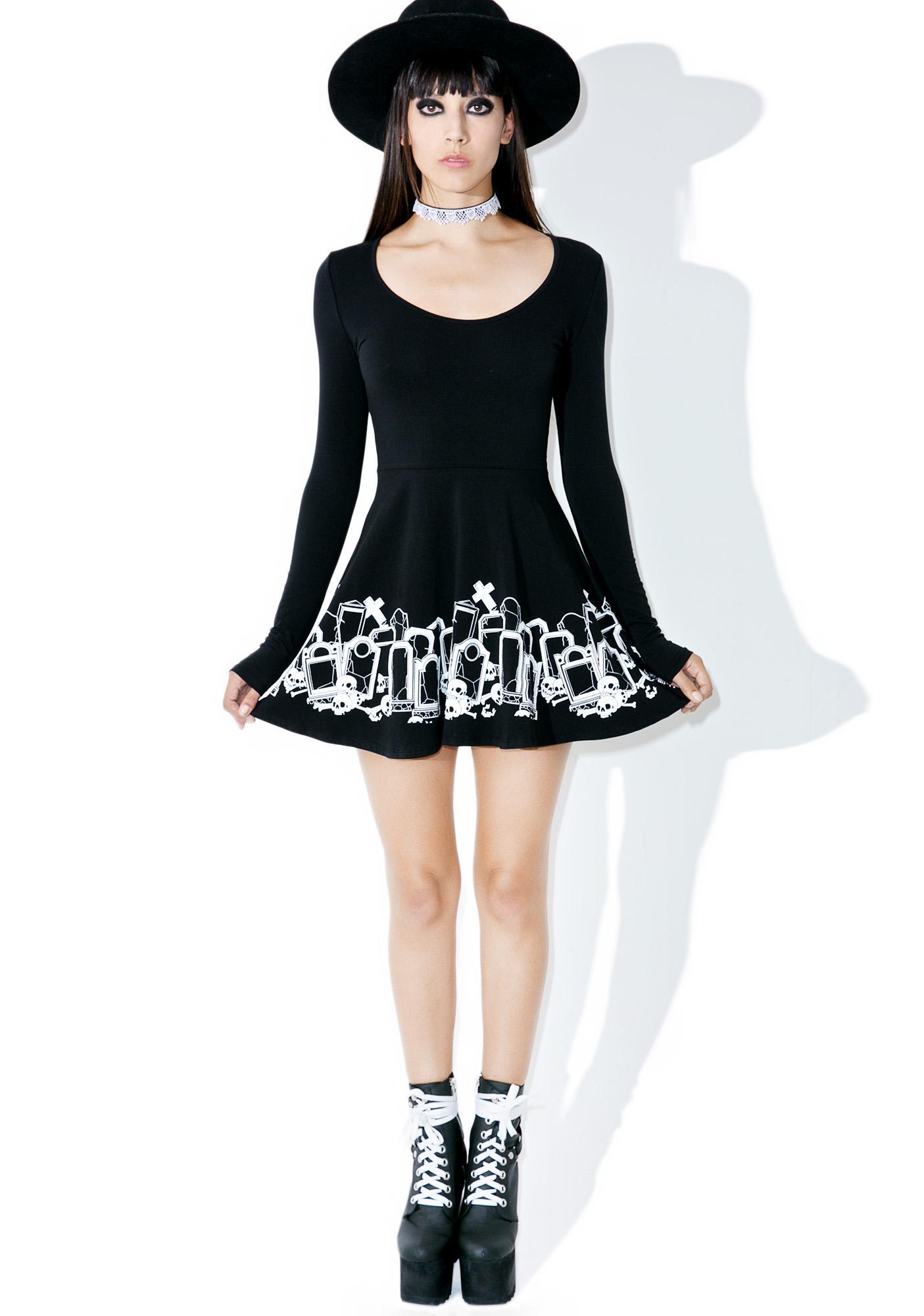 Sourpuss Clothing Grave Digger Skater Dress