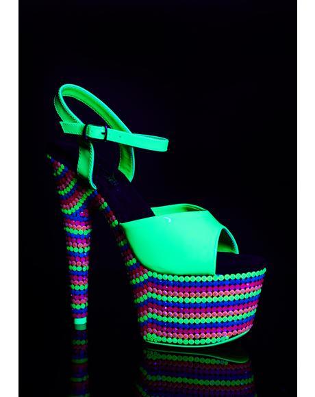 Dank Fairy Freaky UV Platform Heels