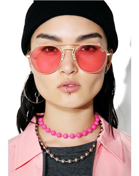 Rose Stephanie Matte Sunglasses