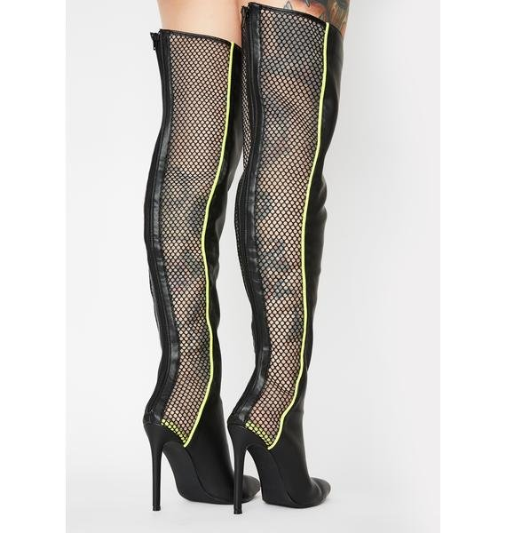Lemon Drop by Privileged Brunner Thigh High Boots