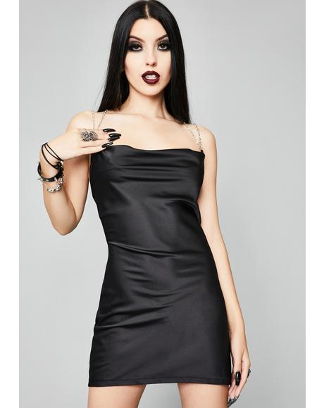 Reel You In Satin Slip Dress