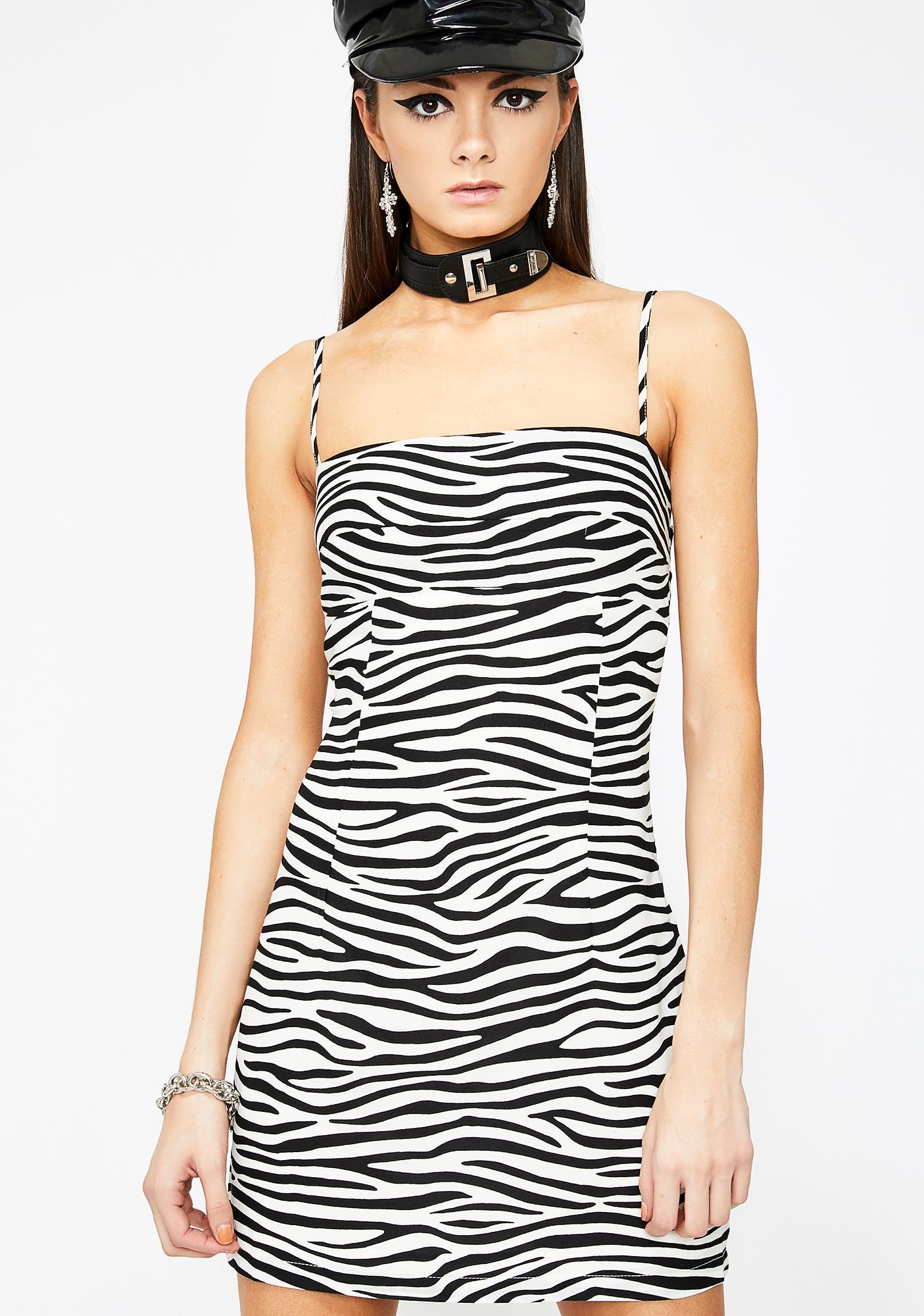 bbe57d6a879e Zebra Mini Dress | Dolls Kill