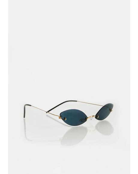 Noir High As Pie Clear Oval Sunglasses