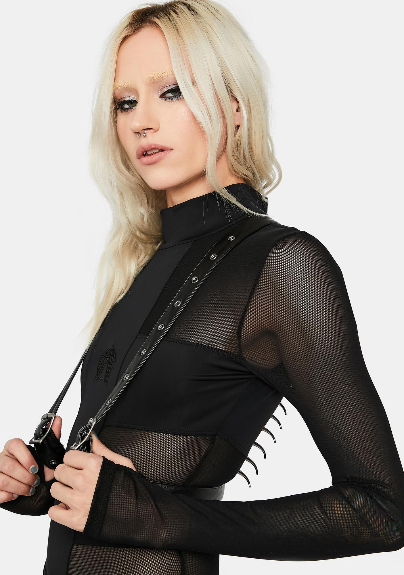 FAN ALL FLAMES Impale Spiked Harness