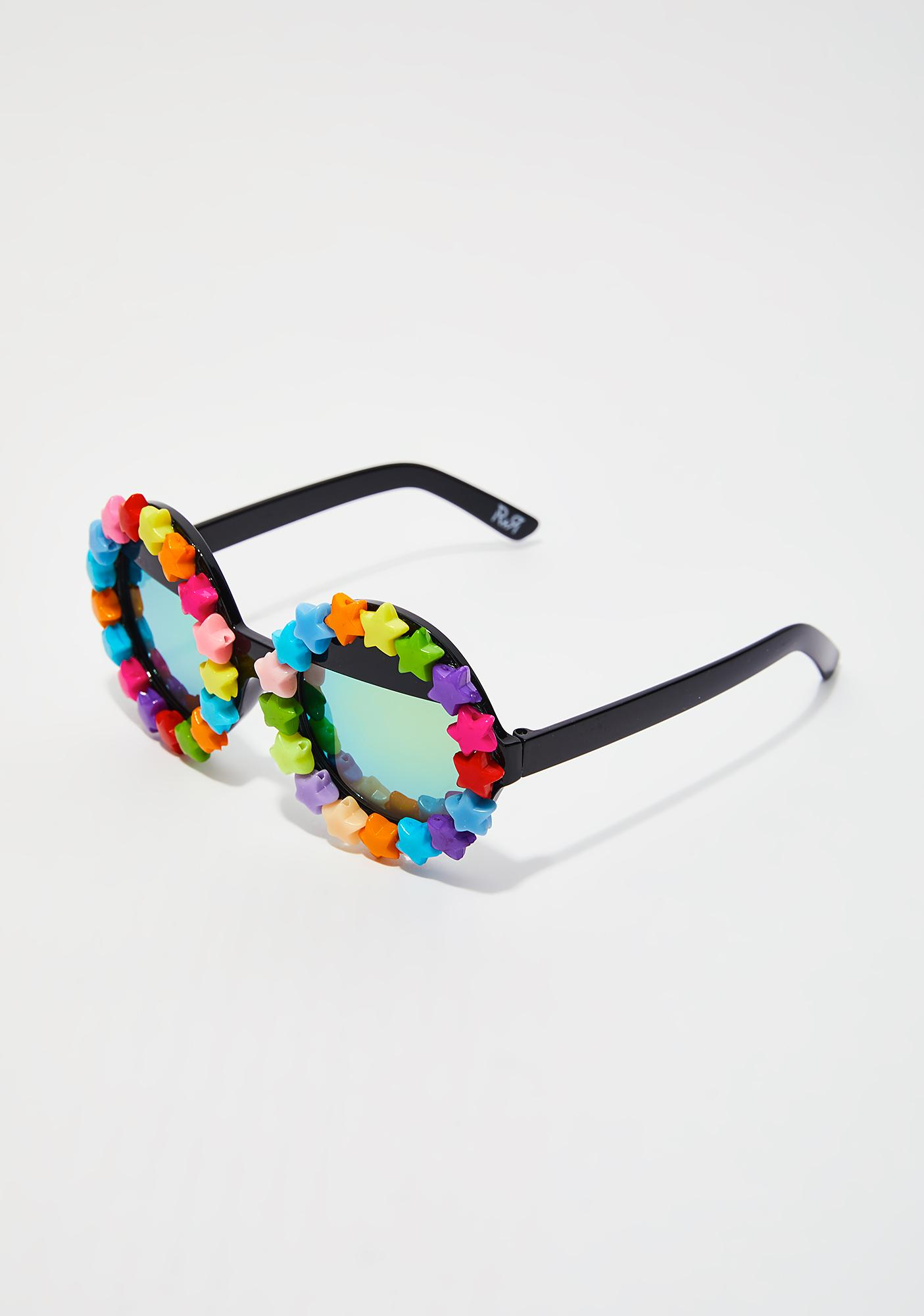 Rad and Refined Starry Eyed Round Sunglasses
