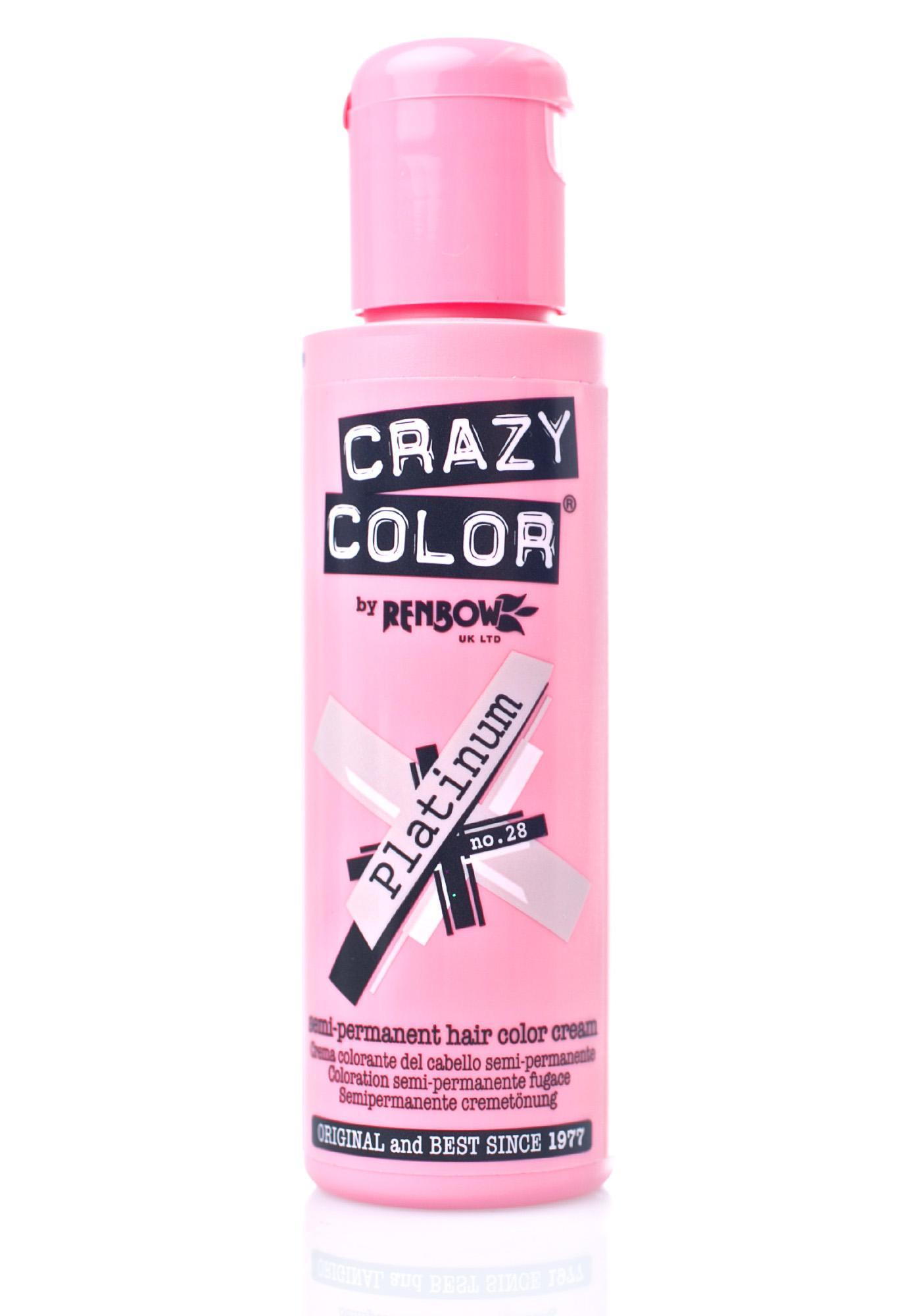 Crazy Color Platinum Hair Dye