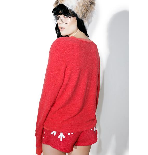 Wildfox Couture Too Much Eggnog Baggy Beach V