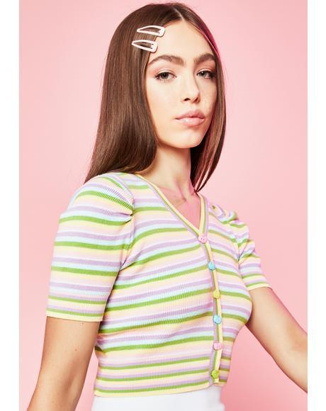 Homegrown Striped Cardigan
