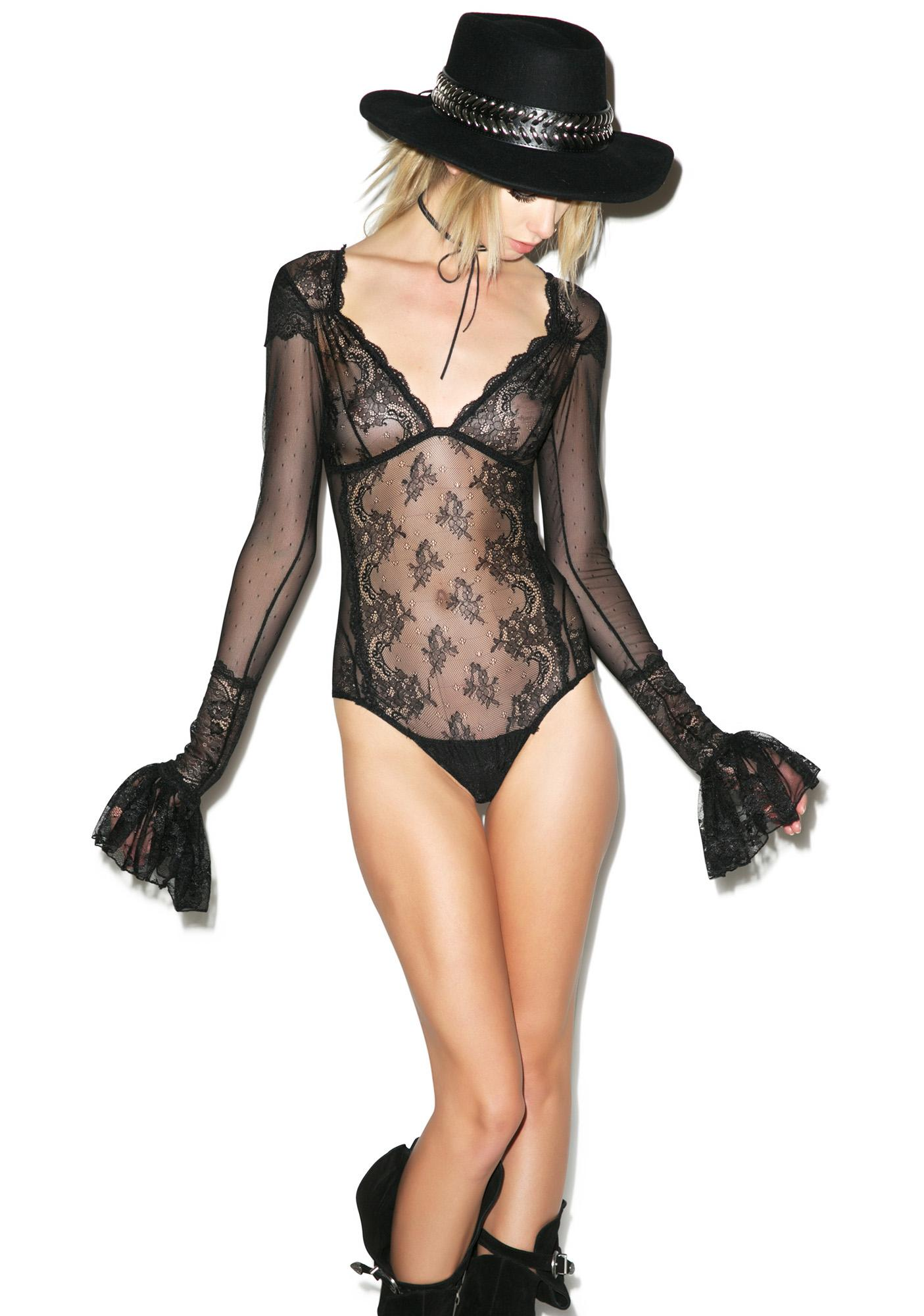 Widow Fortune Teller Lace Bodysuit