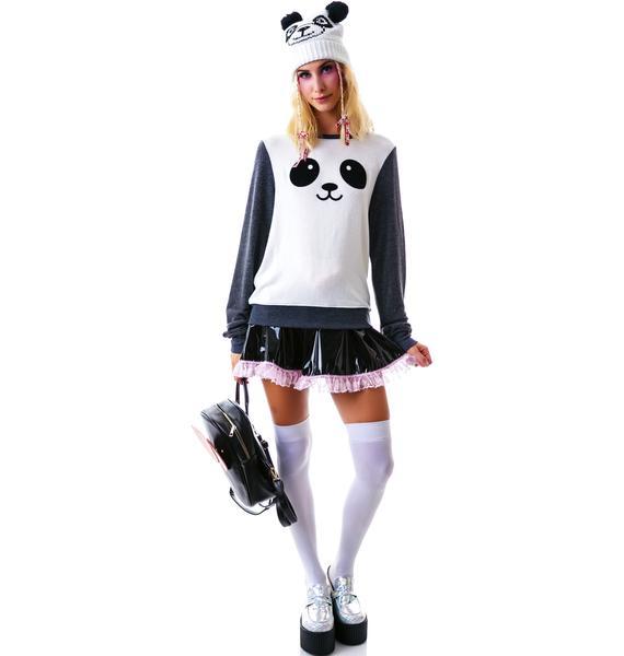 Wildfox Couture Kawaii Panda Baggy Beach Jumper