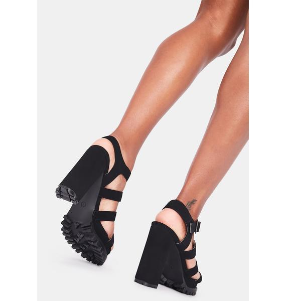 Handle The Heat Block Heels