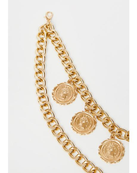 Ancient Opulence Coin Necklace