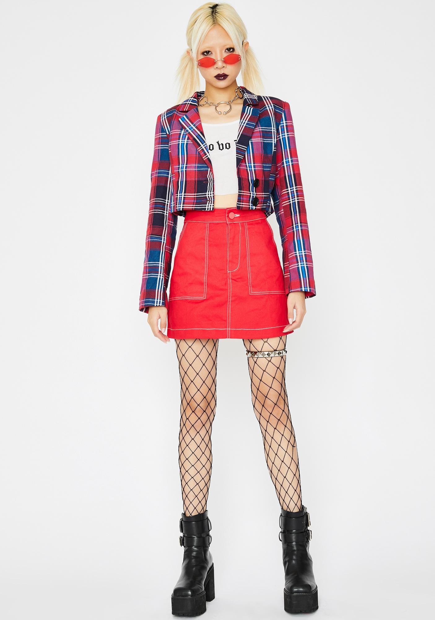 Hott Blunt Banger Mini Skirt