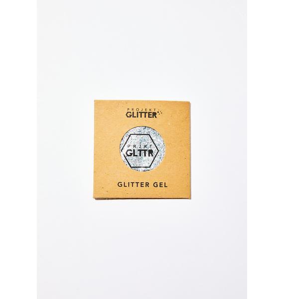 Projekt Glitter Silver Biodegradable Glitter Gel