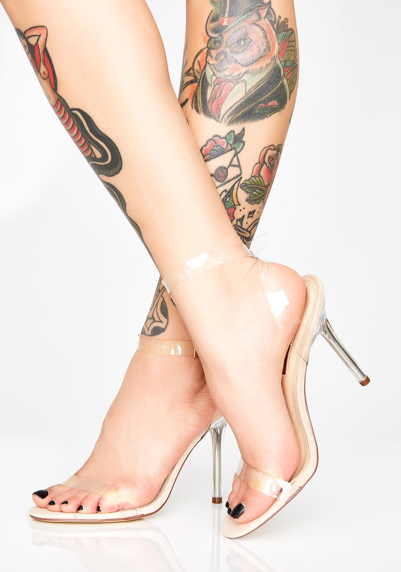 Champagne Magic Mercury Clear Heels