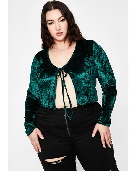 Emerald Crush On Me Velvet Top