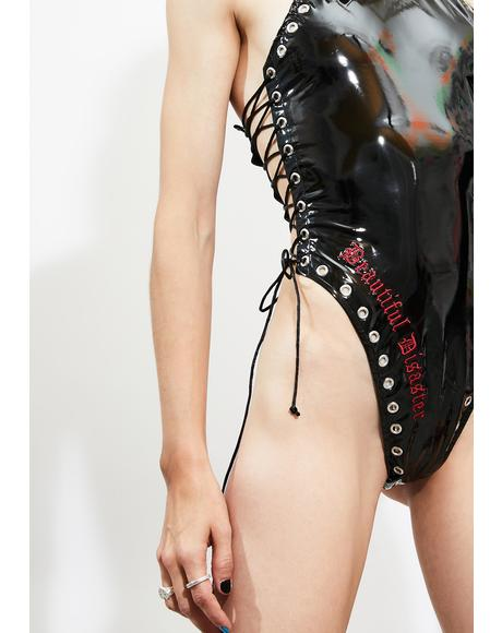 Beautiful Disaster Vinyl Bodysuit