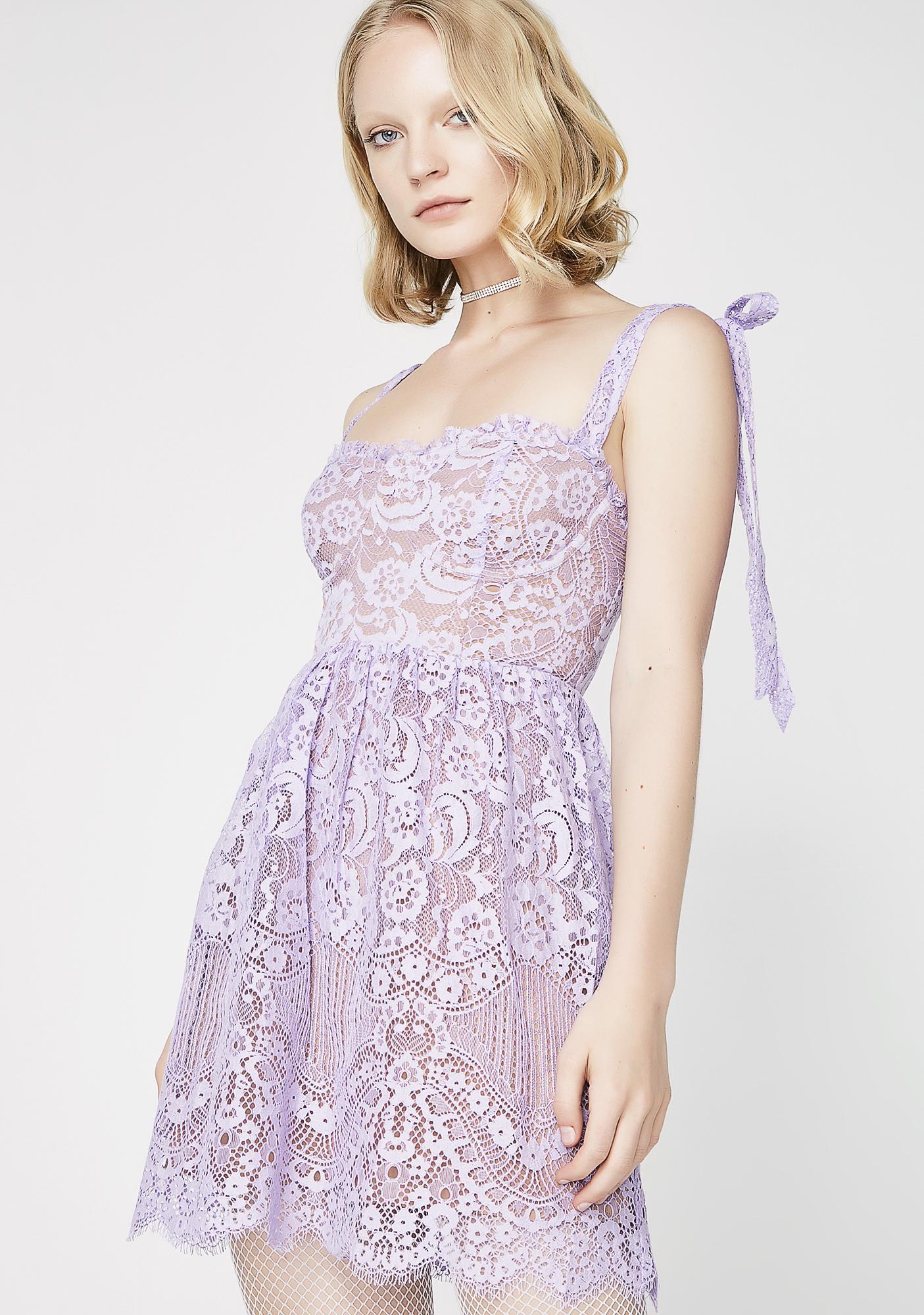 For Love Lemons Valentina Lace Mini Dress Dolls Kill