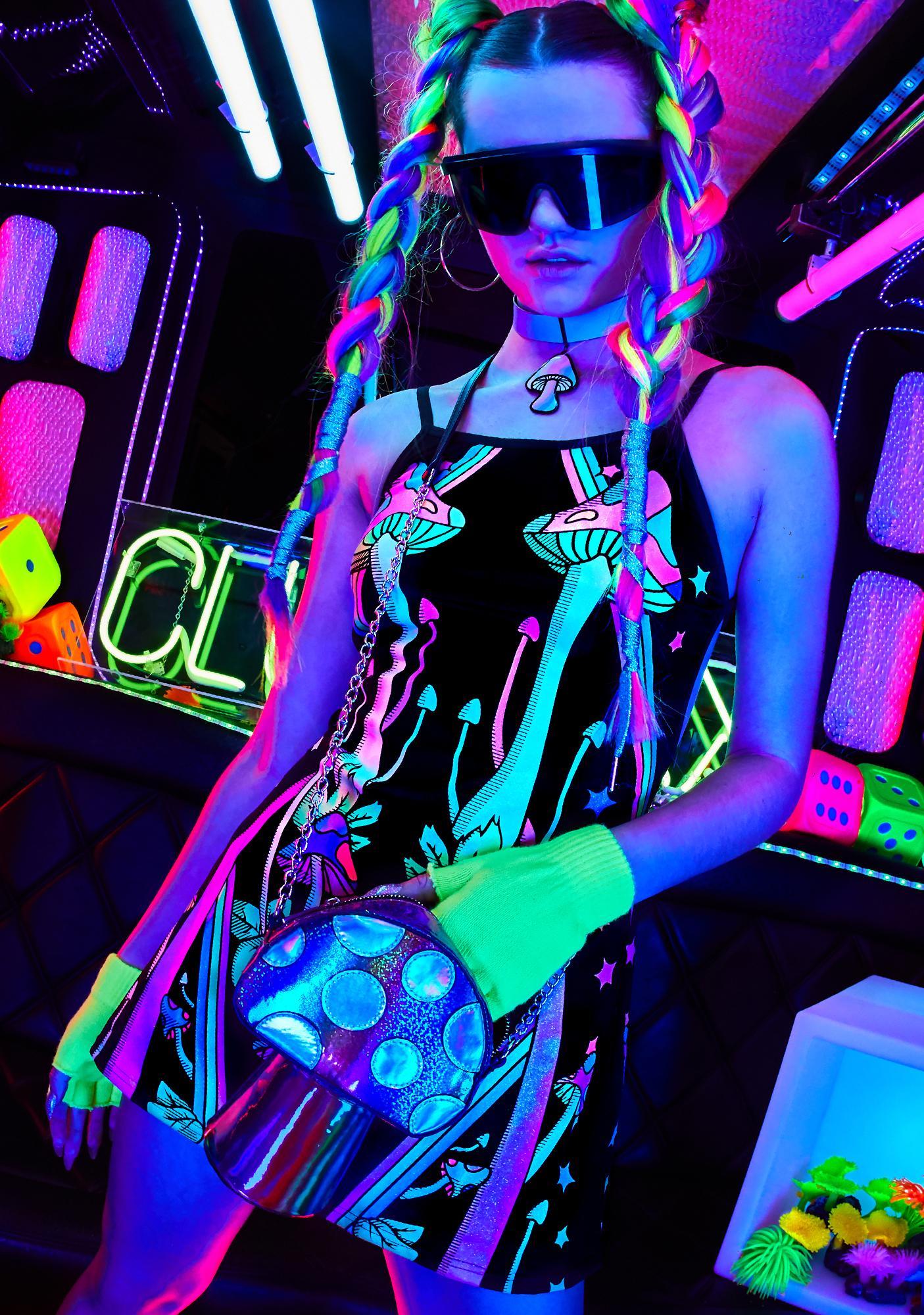 Club Exx Strange Magic Glow In The Dark Dress