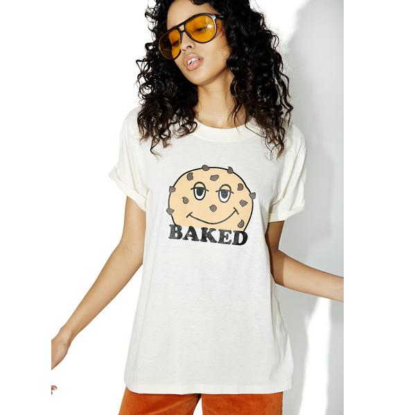 Camp Collection Baked Cookie Rolled Sleeve Tee