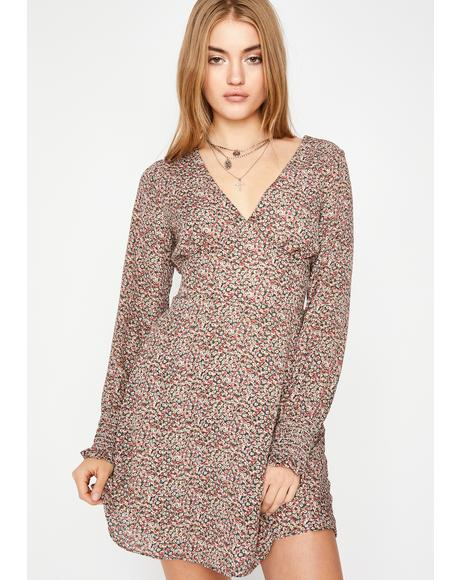 Wild Blooms Mini Dress