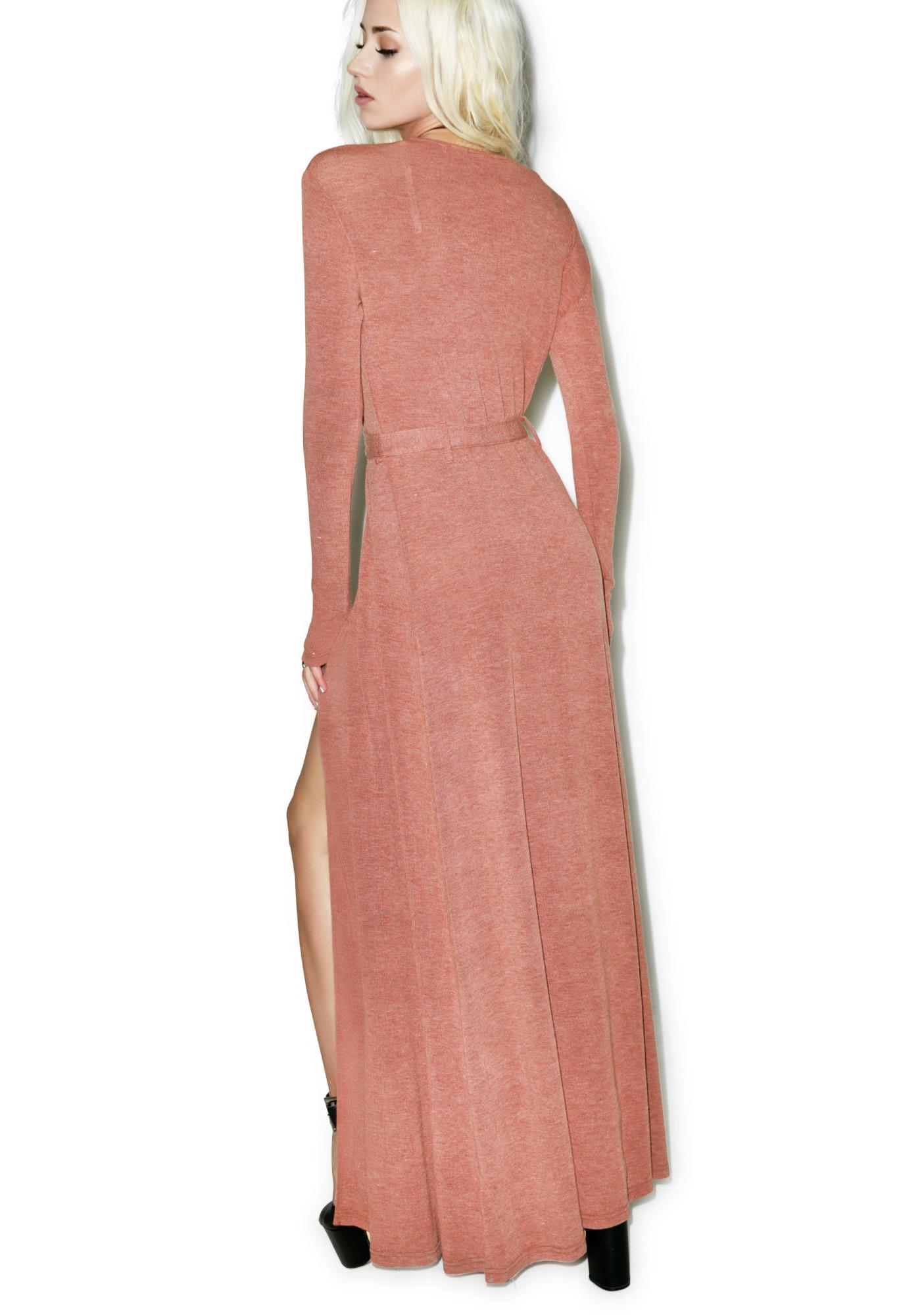 Somedays Lovin Diner Rib Maxi Wrap Dress