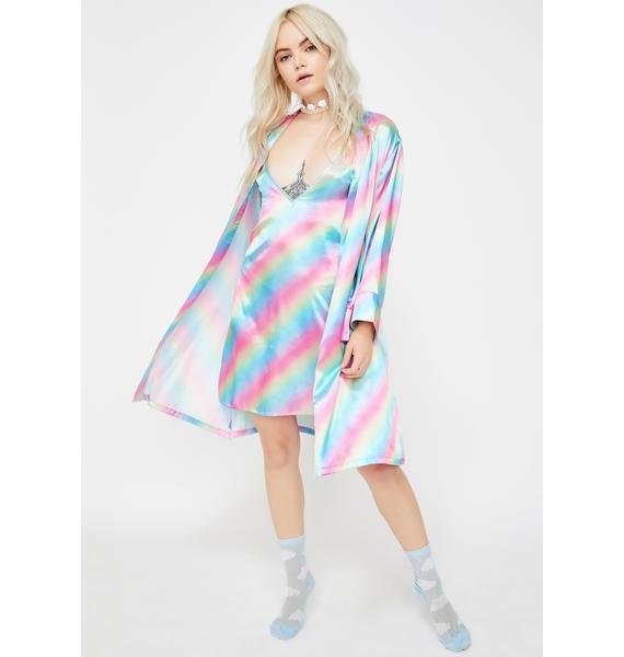 Fractal Fantasy Slip Dress