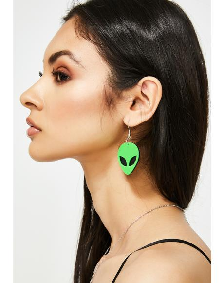 Other Worldly Alien Earrings