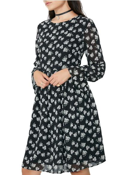 Moonlight Path Floral Dress