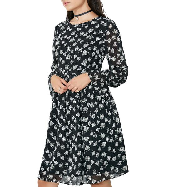 Glamorous Moonlight Path Floral Dress