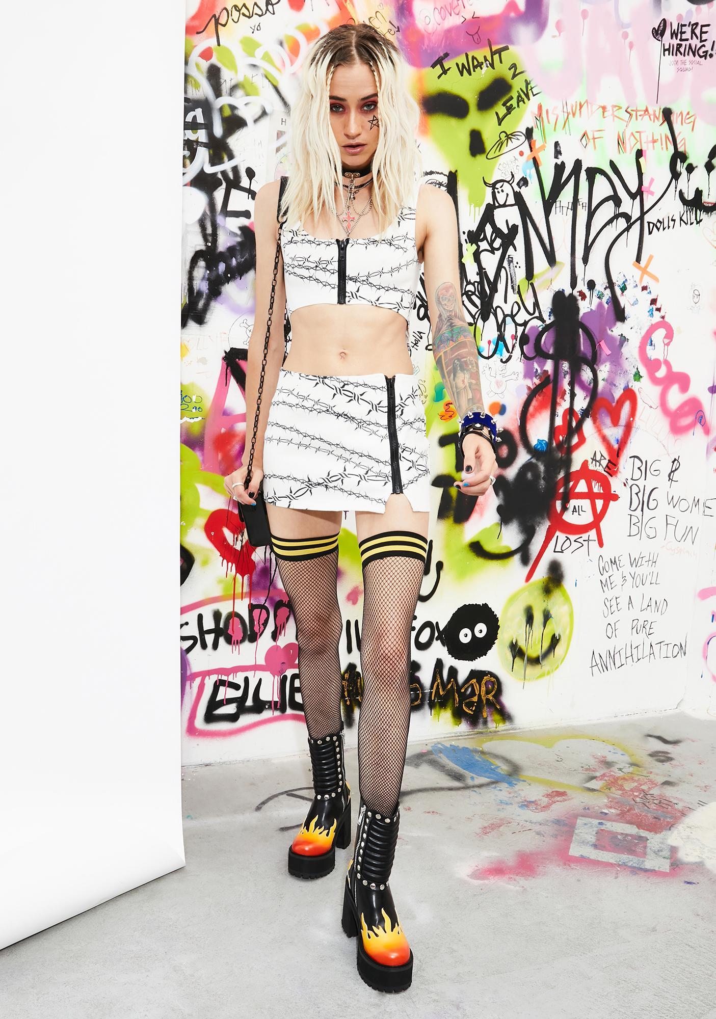 Current Mood Piercing Through Mini Skirt
