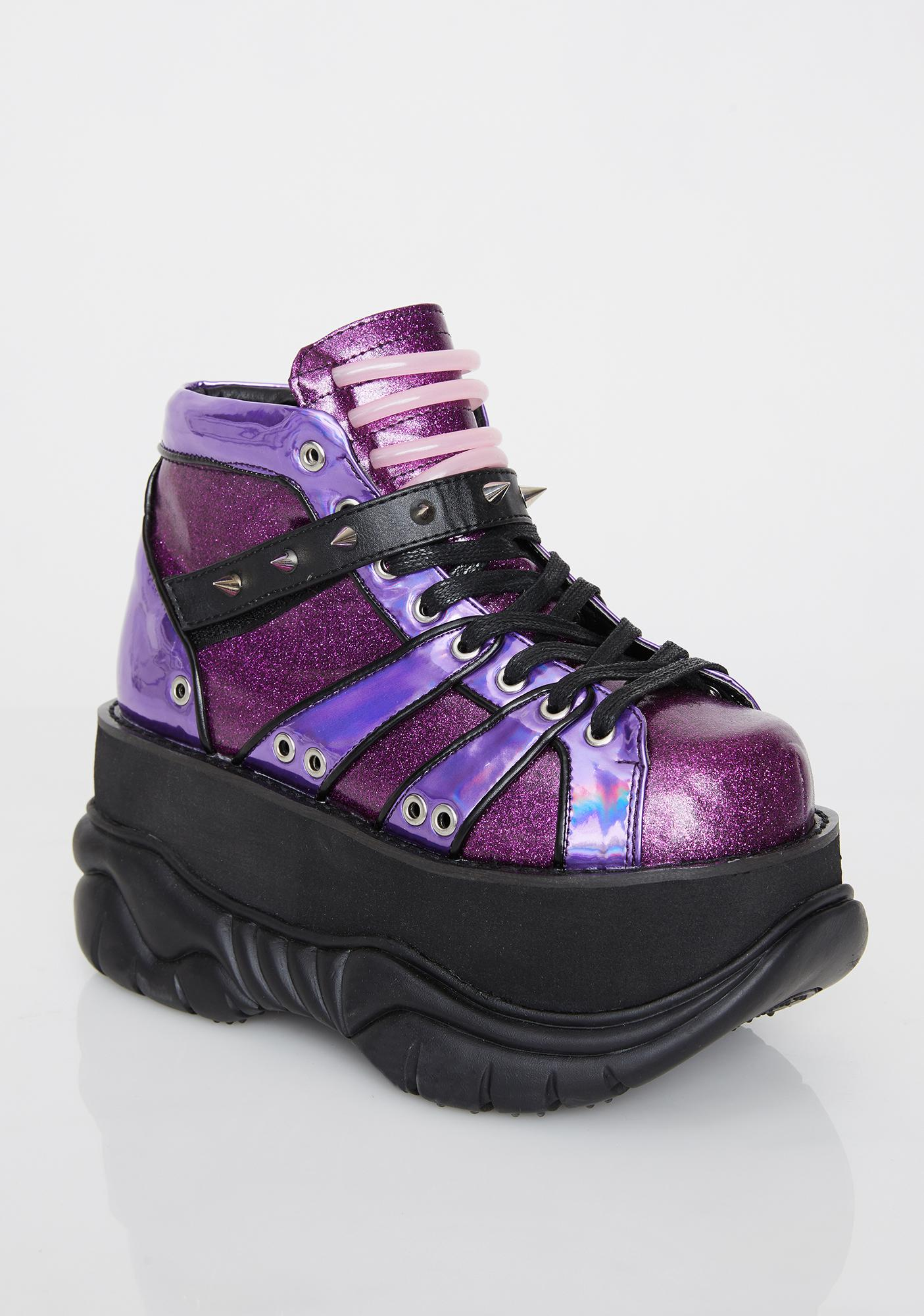 Demonia Planet Neptunez UV Platform Sneakers