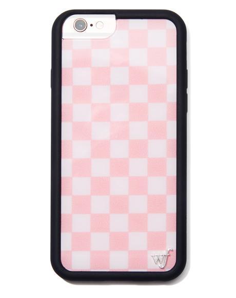 Pink Checks iPhone Case
