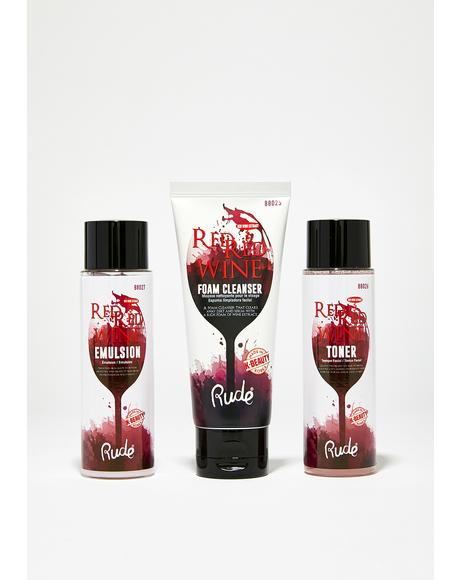 Red Red Wine Therapy Set