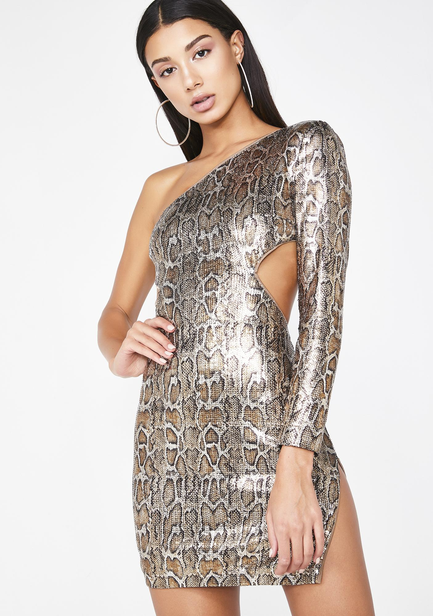 0f0df60c639 Poster Grl On The List Snake Sequin Dress