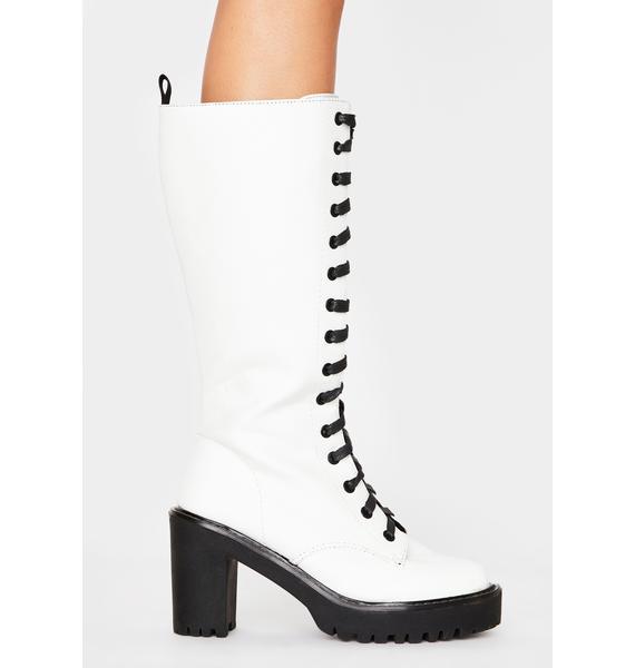 Public Desire Aneko Lace Up Boots