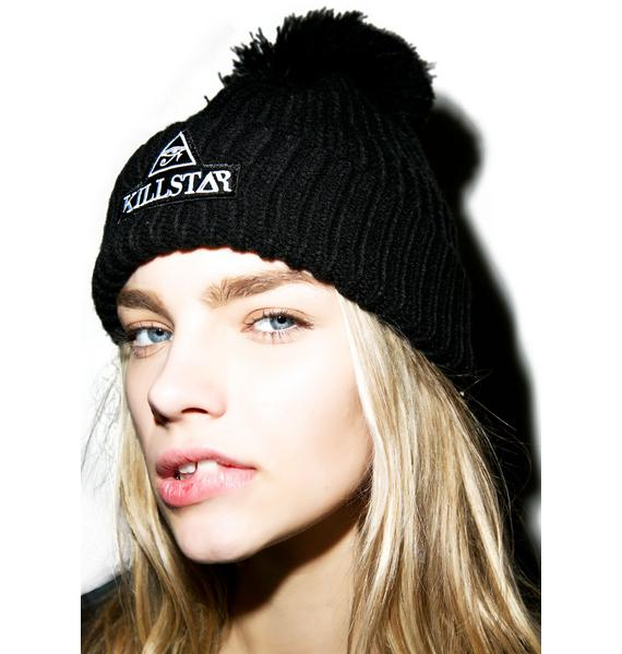 Killstar Patch Pom Beanie