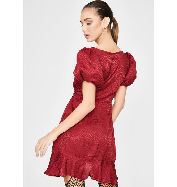 Motel Raspberry Dolly Mini Dress
